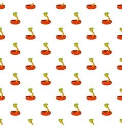 Cobra pattern cartoon style vector image vector image