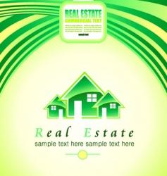 real estate background vector image