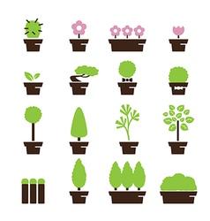 tree pot icon vector image vector image