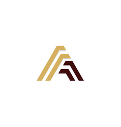 a triangle line initial company logo vector image
