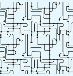 Abstract monochrome seamless pattern subway map vector