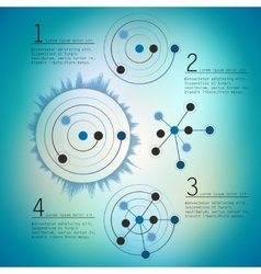 Abstract network with circles eps10 vector image