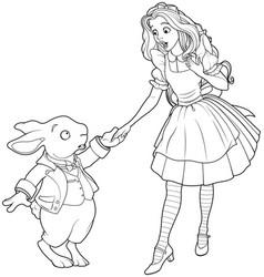 Alice and rabbit vector