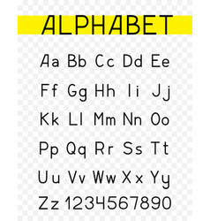 alphabet characters font vector image