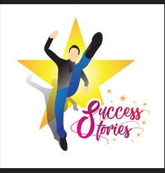 an concept a business success story with star vector image
