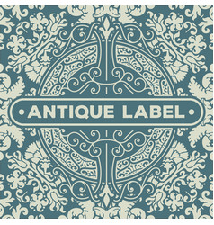 art deco frame and label design resource for vector image