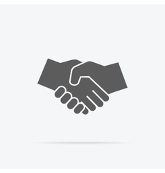 Black Icon Handshake vector image