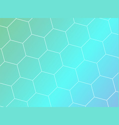blue abstract geometric background with hexagon vector image