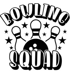 Bowling squad on white background vector