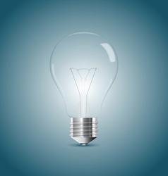 Bulb lamp realistic vector image