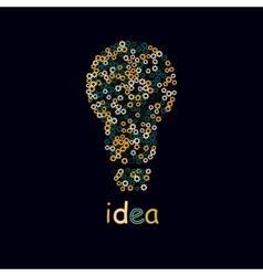 Bulb light idea concept of big ideas inspiration vector