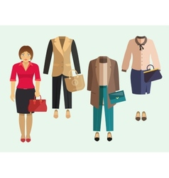 Business Woman Clothes Set vector