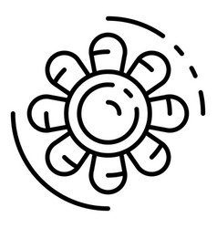 Car motor fan icon outline style vector