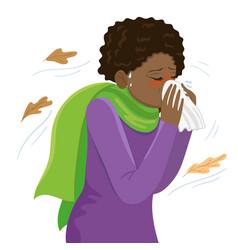Cold girl season colds graphics vector