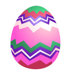 Colored easter egg isolated vector