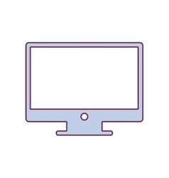 Contour lcd monitor in light purple color vector