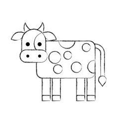 cow farm isolated icon vector image