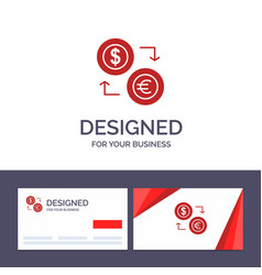 creative business card and logo template exchange vector image
