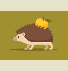 Cute hedgehog flat vector