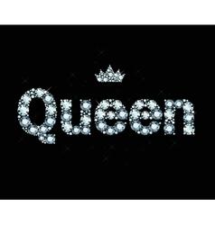 Diamond Word Queen vector image