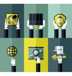 Digital currency modern flat design concept vector image