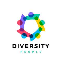 diversity people family team work logo icon vector image