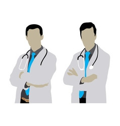 Doctor Man Silhouettes vector