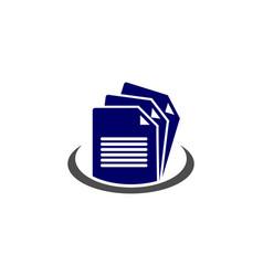 Document file paper logo vector