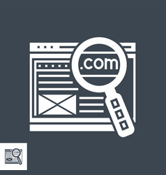 Domain glyph icon vector