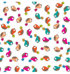Doodle birds seamless pattern vector