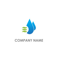 droplet water cool logo vector image