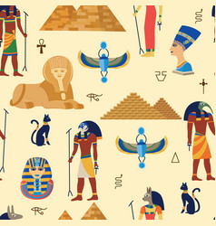 egyptian ancient gods religious symbols and vector image