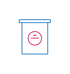 elections poll box outline colored icon can be vector image