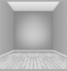 Empty room with laminate floor vector