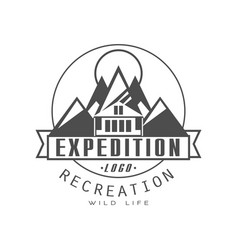 expedition logo design recreation badge vintage vector image