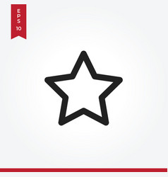 favorite icon in modern style for web site and vector image