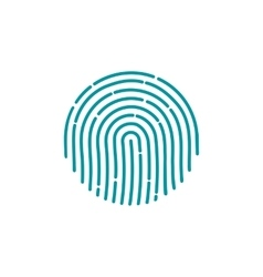 Fingerprint Icon Image Flat fingerprint icon app vector