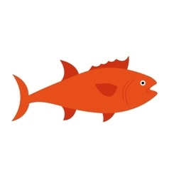 fish animal aquatic icon vector image