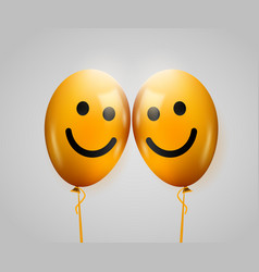 Friendship day two smiling yellow baloons vector