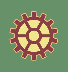 Gear sign cordovan icon and mellow vector