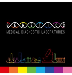 Genetics logo set vector image
