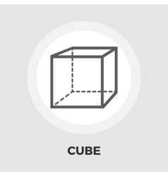 Geometric cube flat icon vector