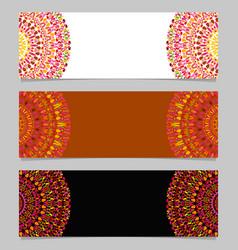 Geometrical colorful gemstone mandala banner vector