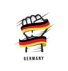 Germany hand and flag template design vector