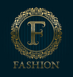 Golden logo template for fashion boutique vector