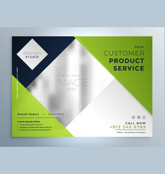 Green business brochure layout presentation vector