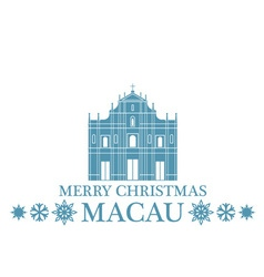 Greeting Card Macau vector image