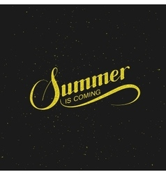 handwritten Summer Is Coming retro label vector image