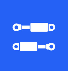 Hydraulic cylinders icon design vector