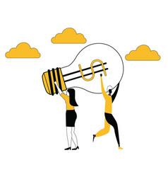 idea snatching between business women vector image